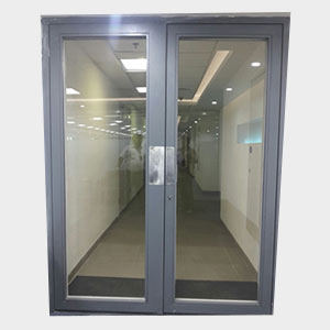 Glass fire rated doors